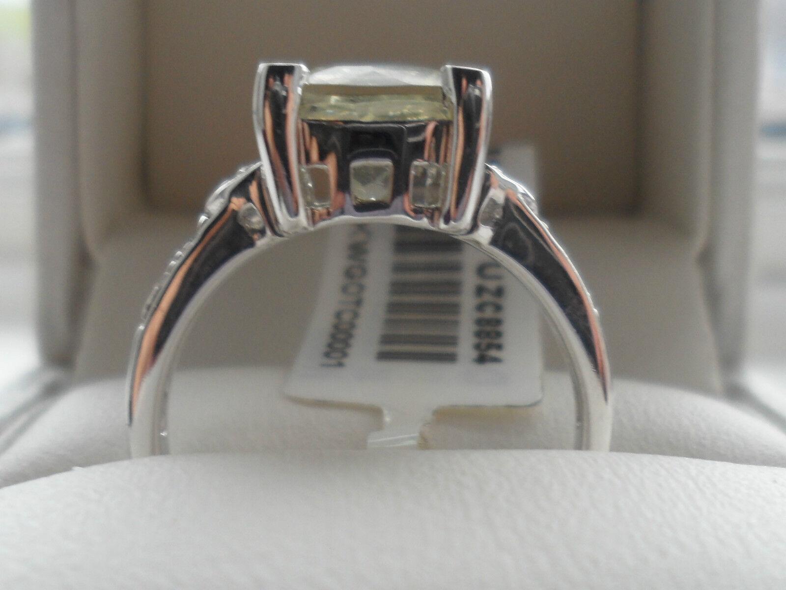 RARE 9K ORTOCLASIO & Bianco Topazio Anello Anello Anello d'oro molto raro anello BELLA  236656