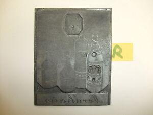 R-alte-Druckplatte-Klischee-Stempel-Likoerfabrik-Fritz-Nordhaus-Werbung-Reklame