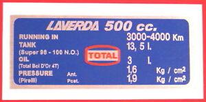 LAVERDA-500-CAPACITIES-TYRE-DECAL13-5-LITRE-TANK