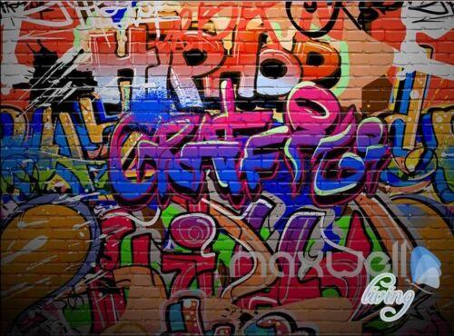 3D Graffiti Wall Hiphop Wall Murals Paper Art Print Decals Decor