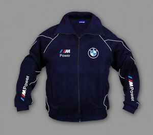 neu herren bmw m power auto motor sport fleece jacke. Black Bedroom Furniture Sets. Home Design Ideas