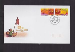 Australia-2007-Year-of-the-Pig-FDC-Christmas-Islands-WA-PMK-J-428