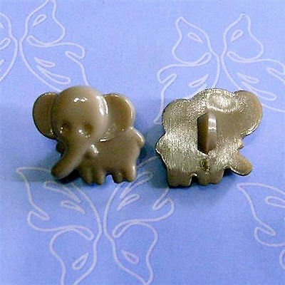 20 Elephant Kid Animal Craft Shank Clothes Sewing Buttons Scrapbook Blue K625