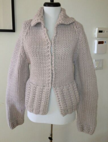 Marc Jacobs Heavy Knit Lilac Wool / Cashmere Cardi
