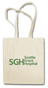 SEATTLE GRACE HOSPITAL STOFFTASCHE SGH Anatomy Fun Logo Room Symbol Emergency