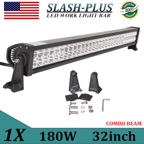 """32inch 180W LED Light Bar Combo Off Road Driving Lamps Bumper Boat 4WD PK 30//34/"""""""