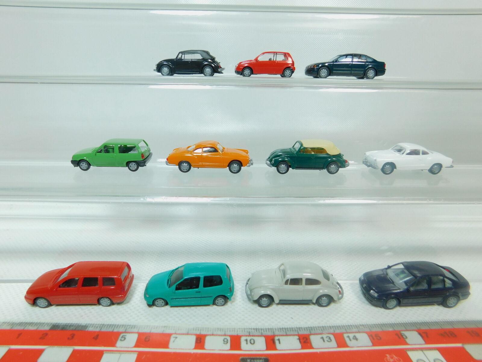 BO949-0,5  11x AMW AWM H0 1 87 PKW VW  Polo+Käfer+Lupo+Karmann Ghia etc, s.g.