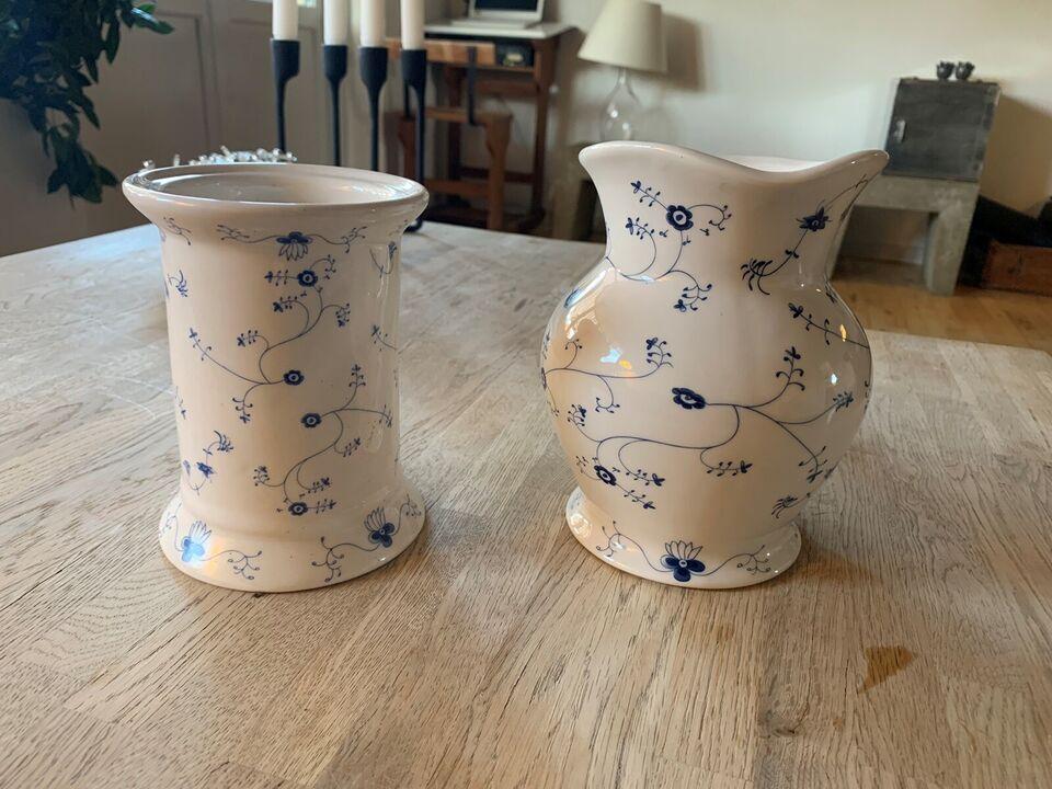 Porcelæn, Kande , Blue blossom