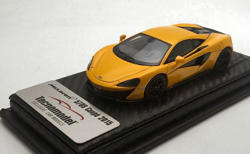 McLaren 570s Volcano jaune 2015 1 43 Model TECNOMODEL