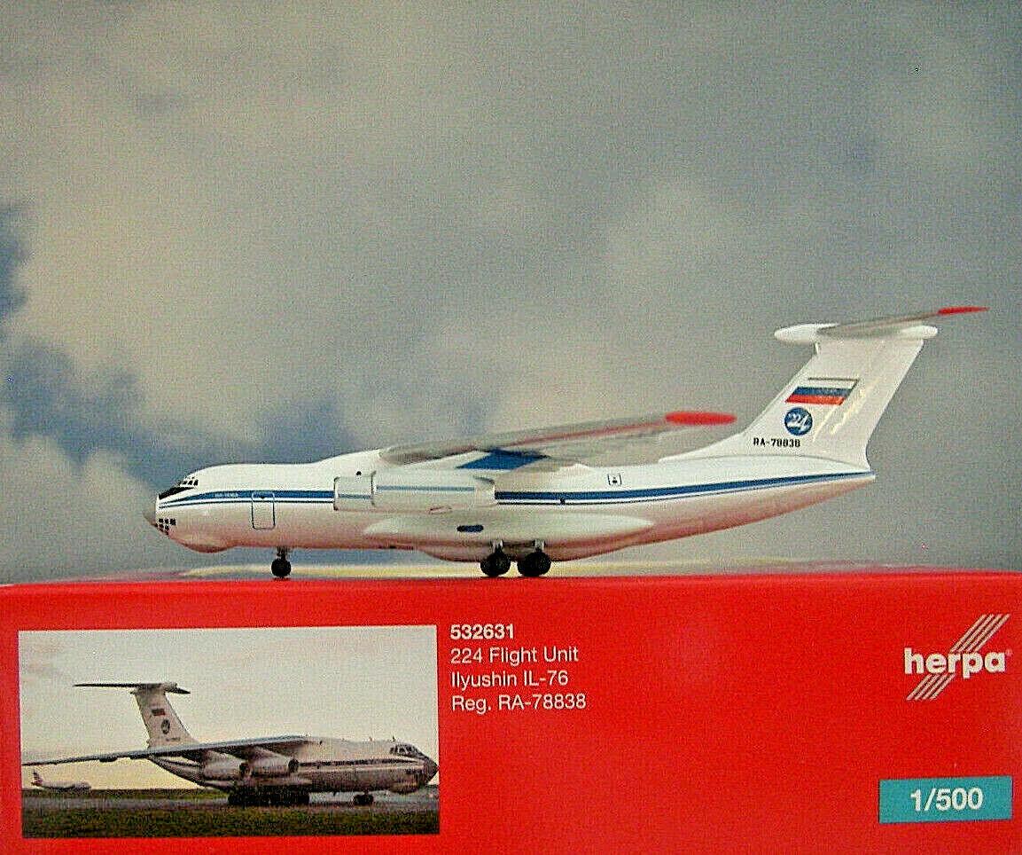 Herpa Ali 1 500 Ilyushin Ilyushin Ilyushin Il-76 Unità State Airlines 532631 Modellairport500 9880eb
