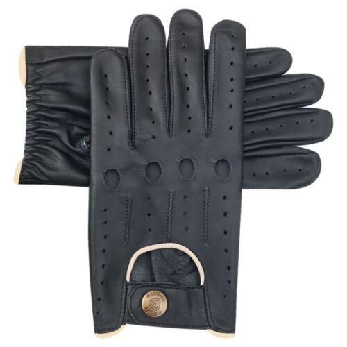 Guanti da guida uomo classici MUCCA Napa leather design slim fit Nero Marrone 514
