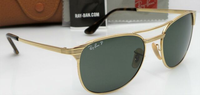 1cb1e3b675 Ray-Ban Rb3429-m 001 58 Signet Gold Frame Green Classic Polarized Sunglasses