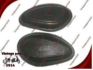 Details about  /Ariel Motorbikes Gas Tank Knee Pad Rubber Grip Set New Red Hunter SQ 4 1937-52