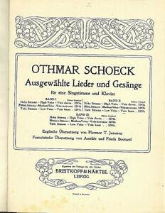 Othmar-Schoeck-Ausgewaehlte-Lieder-und-Gesaenge-Band-2-und-3-gebunden