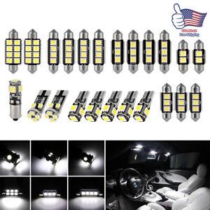 23pcs-LED-White-Car-Light-Bulbs-Interior-Map-Dome-Trunk-License-Plate-Lamps-Kit