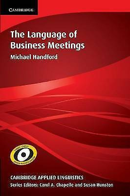 1 of 1 - The Language of Business Meetings (Cambridge Applied Linguistics)-ExLibrary