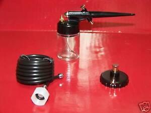 Mini-Air-Brush-Airbrush-Spray-Gun-Sprayer-Painting-Kit-Hobby-w-air-hose-adapter