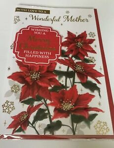 """Greeting Card Christmas Special Mum /& Dad Large Card 6x9"""""""