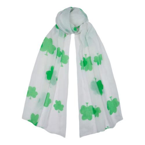 Irlandais trèfle blanc vert petit foulard st patricks jour cadeau shamrock