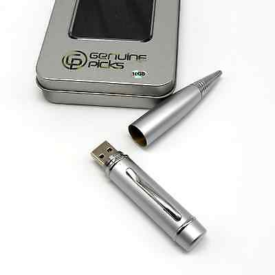 Executive Ballpoint USB Pen/&32gb Flash Drive,Business Gifts 32GB Metalic Silver