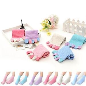 Trendy-Colorful-Women-Non-Slip-Soft-Grip-Cotton-Socks-Five-Fingers-Toe-Socks