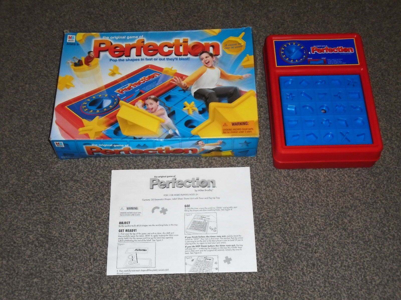 PERFECTION GAME   RARE 2003 USA EDITION BY MB HASBRO - IN VGC (FREE UK P&P)