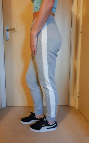 Nouveau Ex L1PSY Femmes Gris Rayure Blanche AIRTEX Jogger Pantalon Pantalon UK 6-14