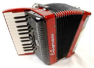 Akkordeon-E-Soprani-Mod-2648D-Rot-2-choerig-48-Bass-mit-Bag-Accordion