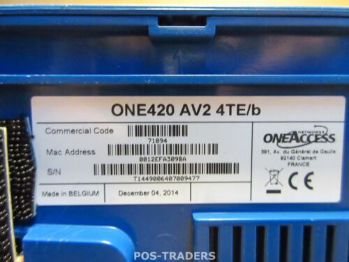 OneAccess ONE420 AV2 4TE//B Multi-Server Router 4-Ports EXCL PSU CABLES