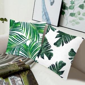 Decorative Pillow Covers Oreillers cas Sofa Throw plante Imprimé Coussin Fashion