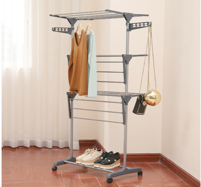 Laundry Clothes Storage Drying Rack Portable Folding Dryer Hanger Heavy Duty For Sale Online Ebay
