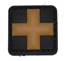 Rubberpatch Rettungsdienst Tactical Medic Cross Kreuz schwarz/beige klein