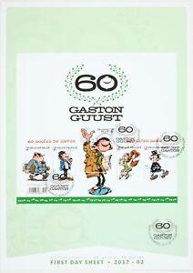 Timbre-Gaston-Lagaffe-Planche-de-5-timbres-pour-les-60-ans-de-Gaston-Gaston-Lag