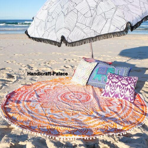 Mandala Tapestry Round Wall Hanging Indian Yoga Mat Tapestry Boho Beach Throw