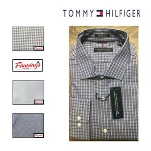 CLEARANCE-Tommy-Hilfiger-Regular-Fit-Stretch-Long-Sleeve-Dress-Shirt-VARIETY-J41