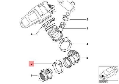For BMW E23 E24 E39 E46 325i 630CSi M6 Z3 Radiator Hose Clamp 83-90 mm Genuine