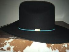 068848205cd item 3 RESISTOL 4X BEAVER George Strait BLACK FUR FELT WESTERN COWBOY HAT  Size 7 1 8 -RESISTOL 4X BEAVER George Strait BLACK FUR FELT WESTERN COWBOY  HAT ...