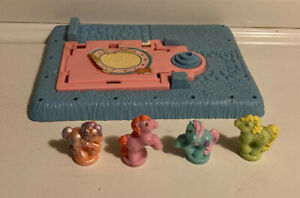 Vintage MLP G1 My Little Pony Petite Ponies Lot Of 4 With Base For Parts