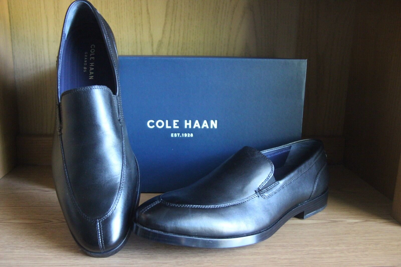 5e0a88715ae Cole Haan Jay Grand 2 Gore Loafer Shoe Men Black Size 11.5 C25077 ...