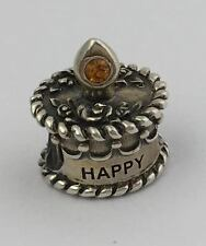 Authentic OHM November Birthday Cake Sterling Silver Bead Charm AHO00211 Retired