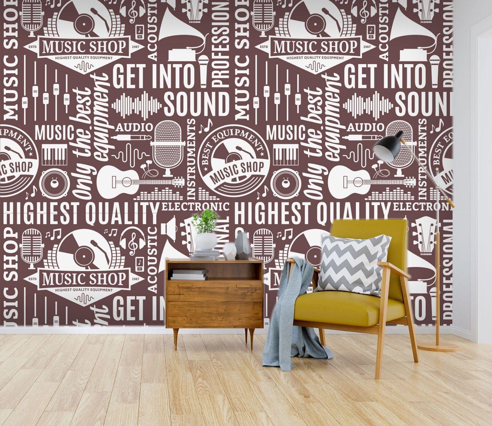 3D Guitar Pictorial 116 WallPaper Murals Wall Decal WallPaper AU Carly