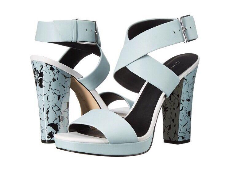 Kork-Ease Raffia Brown Copper Leather Platform Ankle Strap Buckle Sandals 11