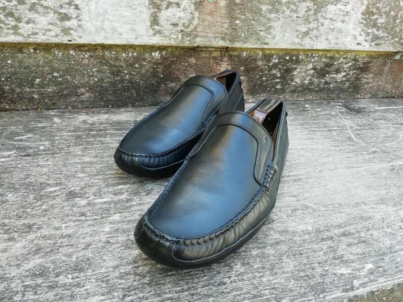 HARRYS OF Londres Mocasines Calzado Para Hombres – Negro – – Excelentes Condiciones