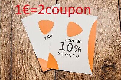 SPEDIZIONE IMMEDIATA !!! CODICE SCONTO ZALANDO DEL 10/% $$