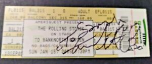 CHARLIE WATTS ROLLING STONES DRUMMER SIGNED AUTOGRAPHED BOSTON FULL TICKET 2006