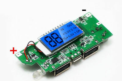 Lithium ion battery 5V 2A Dual USB all-in-one boost charge iPhone PCB DIY