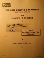 Bolens Sears Case Garden Tractor Bf/ms Onan Engine Service & Parts Manual 48pg