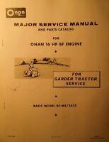 Bolens Sears Case Garden Tractor Bf/ms Onan Engine Service & Parts Manual 48pg