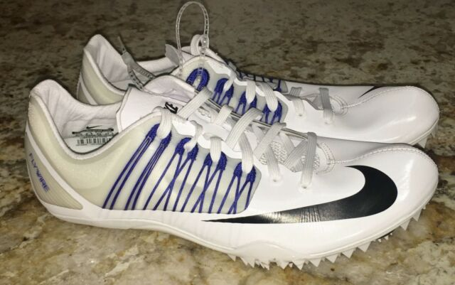 the latest ae971 85493 NIKE Celar 5 Sprint Spikes Shoes White Black Blue NEW Mens 6 7.5 8.5 9 9.5