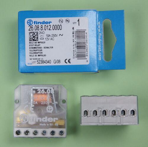 26.08.8.012.0000 Finder relés jalousiesteuerung stromstossschalter 12v DC//AC